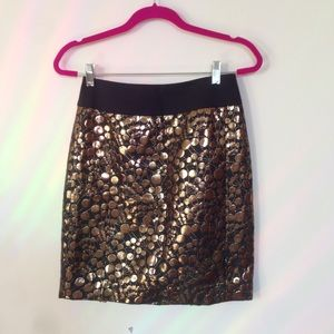 The Limited brocade pencil skirt